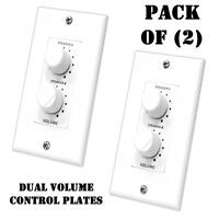 Pack of (2) Pyle PVCD15 In-Wall Two Speaker Dual Knob Independent Volume Control