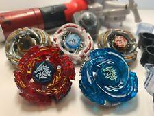 BEYBLADE LOT Takara 5 Meteo L-Drago+Launchers Grip Metal Fusion Masters Fury 4D