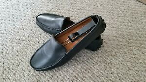 Tods Italy Black Leather Slip On Casual Driving Loafter Mens Shoes Size   7