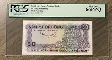 New listing 1966 South Vietnam 50 Dong Nd Pcgs Certified Gem New 66Ppq