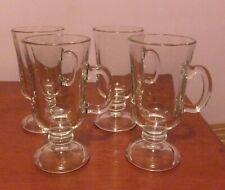 """4 x Stylish Irish Coffee/Hot Whisky/Hot Chocolate/Latte Glasses, Approx. 6"""" Tall"""