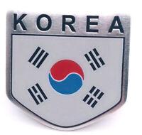 Sticker Aufkleber Emblem Korea Metall selbstklebend Auf Kleber Nord Süd Wappen