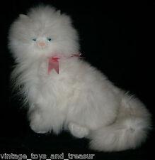 "12"" VINTAGE RUSS BERRIE MONIQUE WHITE KITTY CAT STUFFED ANIMAL PLUSH TOY KITTEN"
