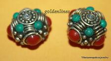 Nepalese beads Handmade beads Turquoise beads Nepal beads Tibet beads BDS543