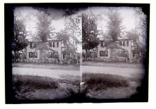3 Stereo Glass Negatives Same House Middlebury Vermont Photographer Palmer 1880s
