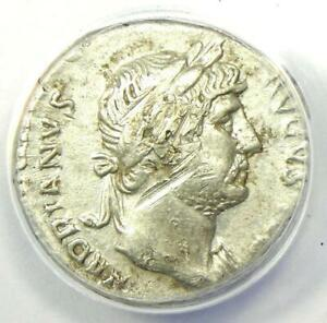 Roman Hadrian AR Denarius Silver Coin 117-138 AD - Certified ANACS VF25