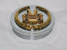 RARE VOGUE TYRE WHEEL RIM CHROME GOLD WREATH CREST THREADED CENTER CAP 11213
