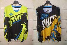 Lot 2 Maillot moto cross SHOT Race Gear n°2 shirt L