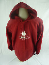 Men's Banff Hoodie Pullover Red Frontal Pockets Canada Embroidered Logo Medium