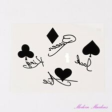 Playing Card Suits Removable Temporary Tattoo Body Art 103x78mm