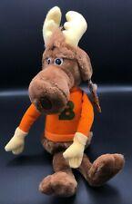 Vintage Bullwinkle J. Moose Plush Toy, TV Show Rocky and Bullwinkle, 1982