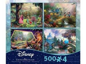 Ceaco Thomas Kinkade 4 x 500 Piece Jigsaw Puzzles - Disney Set 3668