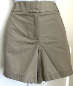 "J.Crew Womens City Fit Shorts 12 Front Fly Broken-in 5"" inseam Tan Chino NWT"