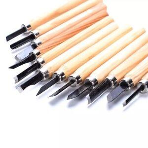 Schnitzmesser 12 tlg. Schnitzwerkzeug Hohleisen Schnitzeisen Schnitzen Holz