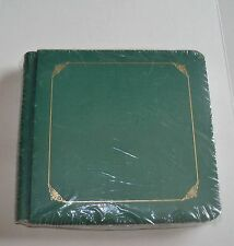 Creative memories 7x7 Sentiments Album~Evergreen With Gold Trim Plus Pages~NIP