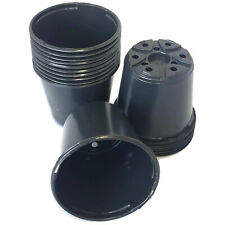 "Set of 100 - 4 inch Round Black Plastic Pots - (4"" x 3.5"")  flower pot Landmark"