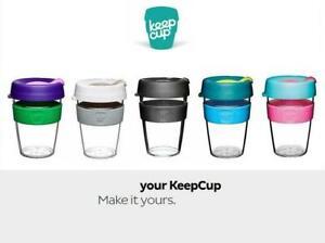 KeepCup Coffee Mug Original Clear Edition 8/12/16oz Reusable Plastic Coffee cup
