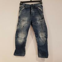 Men's G-Star Raw 'TRAIL ELWOOD LOOSE'  Jeans 28 x 30 Button Fly Blue  -MC10