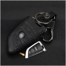 Black Leather Key Fob Case For BMW X5 X6 f15 f16 smart key Shell NEW