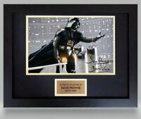 David Prowse Darth Vader Star Wars Actor Framed Signed Autograph Photo COA