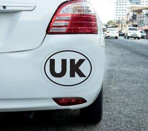 2X UK OVAL CAR STICKER Car Lorry Van Truck Vinyl Self Adhesive UK stickers