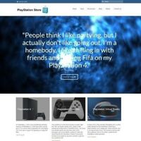 Fully Stocked Dropshipping PLAYSTATION Website Business For Sale + Domain + Host