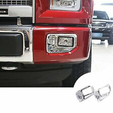 ABS Chrome Front Fog Lamp Light Trim Cover 2pcs For Ford F150 F-150 2015-2017