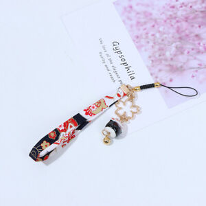 Phone Strap Lanyards Daisy Flower Cat Bell Mobile Phone Hang Rope Charm De OH