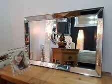 Nouveau Qualité Moderne Art Déco design en verre biseauté Miroir 60X90cm Noir Edge