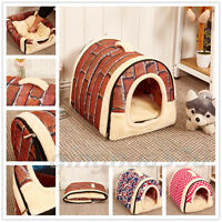 S-XL Size Luxury Pet Dog Cat Soft Comfy Puppy House Bed Lgloo Warm Mat Washable