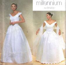 Vestido de boda Vestido de Novia de 12-18 francos neto Enagua Estola Patrón De Costura 8834