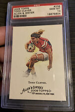 2008 Topps Allen & Ginter #238 Todd Clever PSA 10 Rookie Card Pop 1 Of 1 Rugby