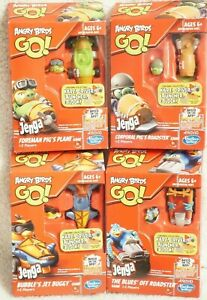 ANGRY BIRD'S GO! Jenga Games( (LOT of 4)Corporal, Foreman, Blue's & Bubble's NEW