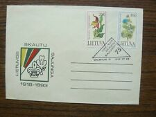 Lithuania Lithuanian Boy Scouts - 75 1918-1993 Special Cancellation Cover