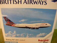 "1/500 Herpa British Airways Boeing 747-400 ""Scotland"" 502603 E"