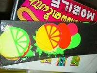 VINTAGE 1960s HIPPIE LUMINO FRUIT MOBILE BLACKLIGHT COLLECTIBLE AMERICANA JAPAN