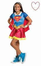 Supergirl Fancy Dress Kids Girls Costume High School Superhero Book Day Week