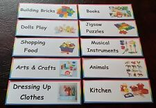 20  TOY BOX / TOY ROOM LABELS HOME/ CHILDMINDER / NURSERY/ PRE-SCHOOL/ PLAYGROUP