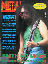 METAL SHOCK 136 1993 Faith No More Extreme Kreator Manowar Trixter Black Sabbath