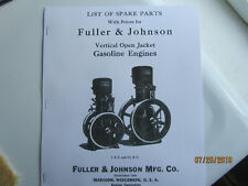 1925 Fuller & Johnson Vertical Hopper Cooled Gas Engine Parts Manual 1- 2 1/2Hp