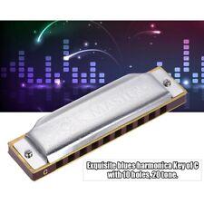 More details for suzuki folk master 10 holes diatonic harmonica c key 20 tone for beginner 1072-c
