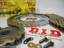 DUCATI M900 '94/99 DID 525 GOLD CHAIN AND SPROCKETS KIT *Premium 525 Conversion