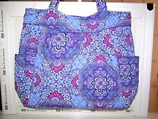 VERA BRADLEY LILAC TAPESTRY RETIRED SOLD OUT PLEATED SHOULDER TOTE PRINT INT NWT