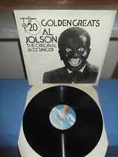 "Al Jolson ""20 Golden Greats"" LP MCA UK 1981"