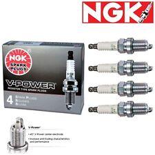 4 - NGK V-Power Plug Spark Plugs for 1993-1997 Toyota Corolla 1.8L L4 Kit Set