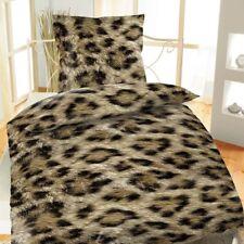 Mikrofaser Bettwäsche 135x200 2-teilig Afrika braun Leopard
