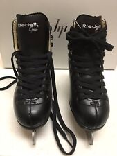 New listing Riedell Opal Black Figure Ice Skates Size 2
