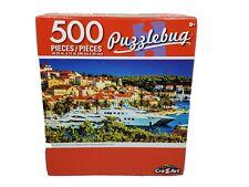 "Puzzlebug 500 Piece Puzzle ""LUXURY YACHTS IN MEDITERRANEAN""  18.25""  X 11"" New"