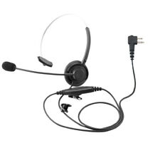 Walkie Talkie Single Muff Headset for Motorola 2 Pin Dtr550 Dtr650 Rdm2070 Cp200