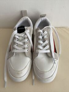 CALVIN KLEIN White Leather Trainers Size 40